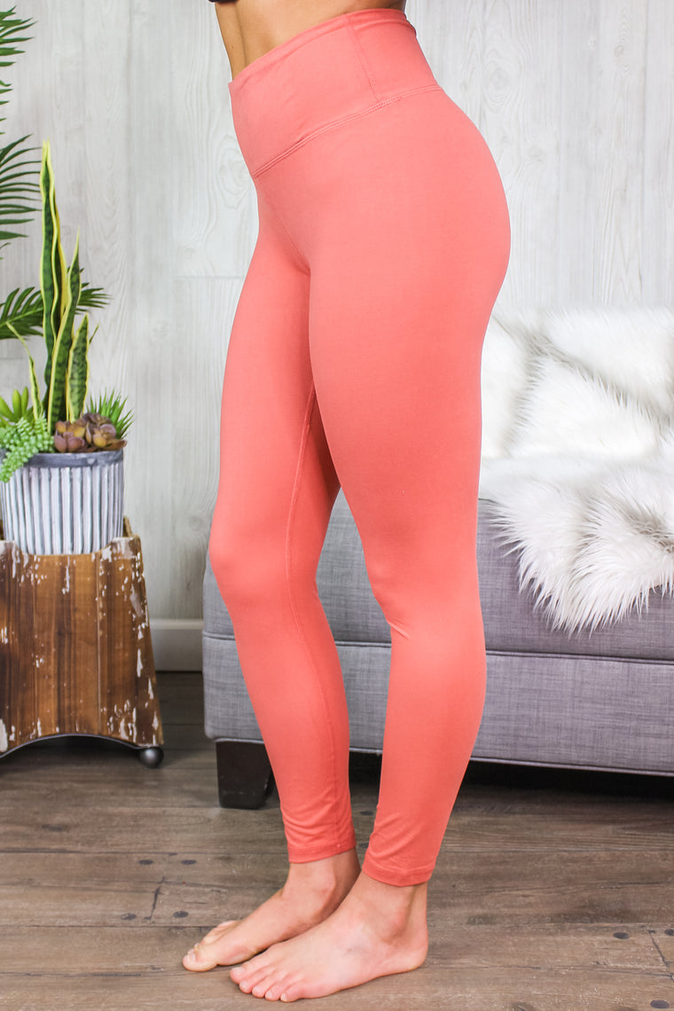 Kelsey Butter Soft Leggings Rustic Coral