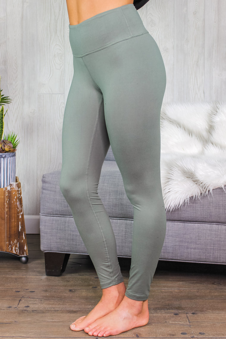 Kelsey Butter Soft Leggings Grey Sage