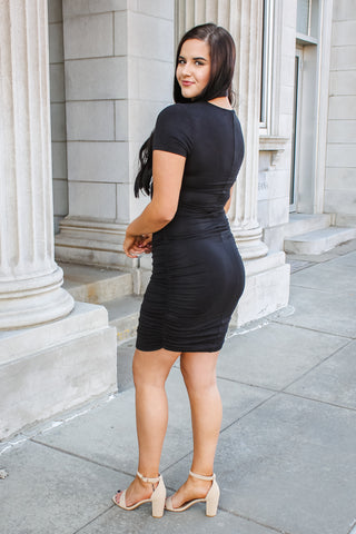 Tori Fitted Dress Black
