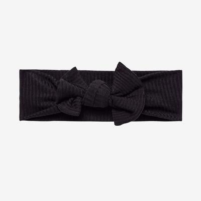 Posh Peanut Black Ribbed Infant Headwrap