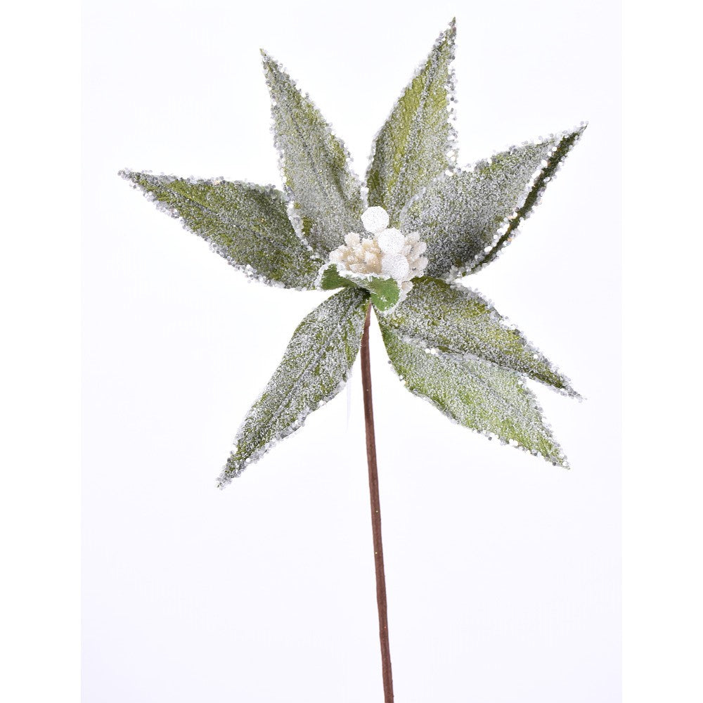 "271791 23"" Frosted Poinsettia Stem"