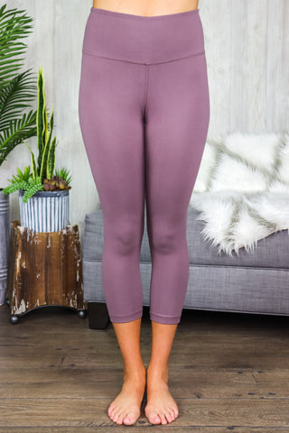 Riley Capri Leggings Dark Mauve