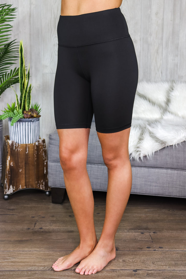 Cara Highwaist Solid Bike Shorts