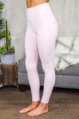 Gertrude Highwaist Panel Leggings Light Pink