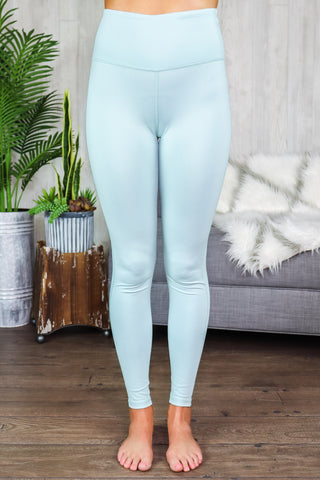 Hallie Sweetheart Highwaist Leggings Surf Spray