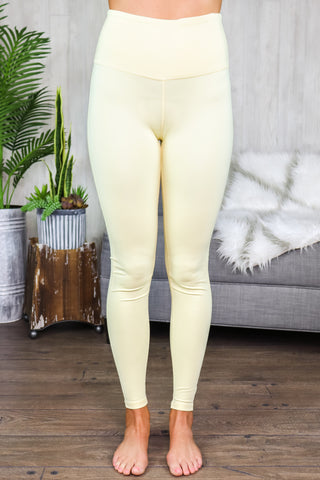 Hallie Sweetheart Highwaist Leggings Lemonade