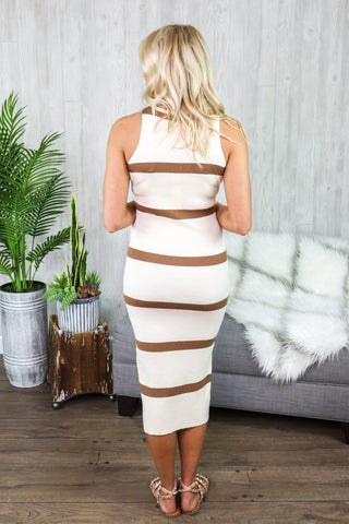 Mali Striped Bodycon Dress