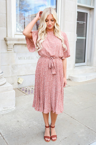 Sienna Flutter Sleeve Dress