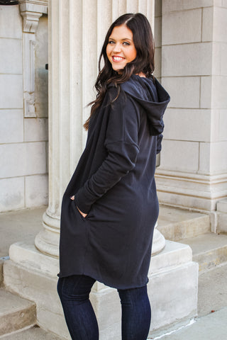 Ellen Hooded Cardigan Black