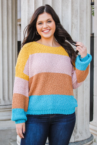 Betsy Color Block Sweater