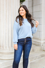 Kourtney Sweatshirt Dusty Blue