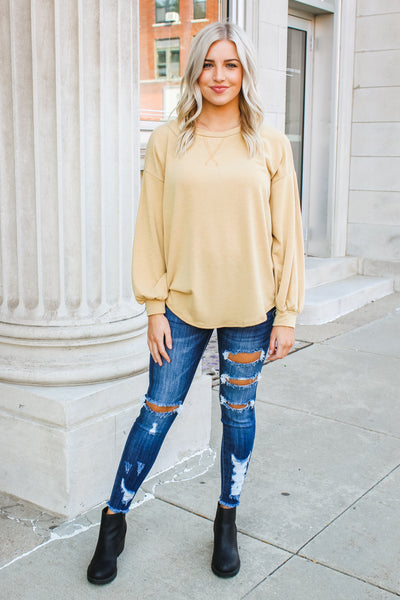 Kourtney Sweatshirt Mustard