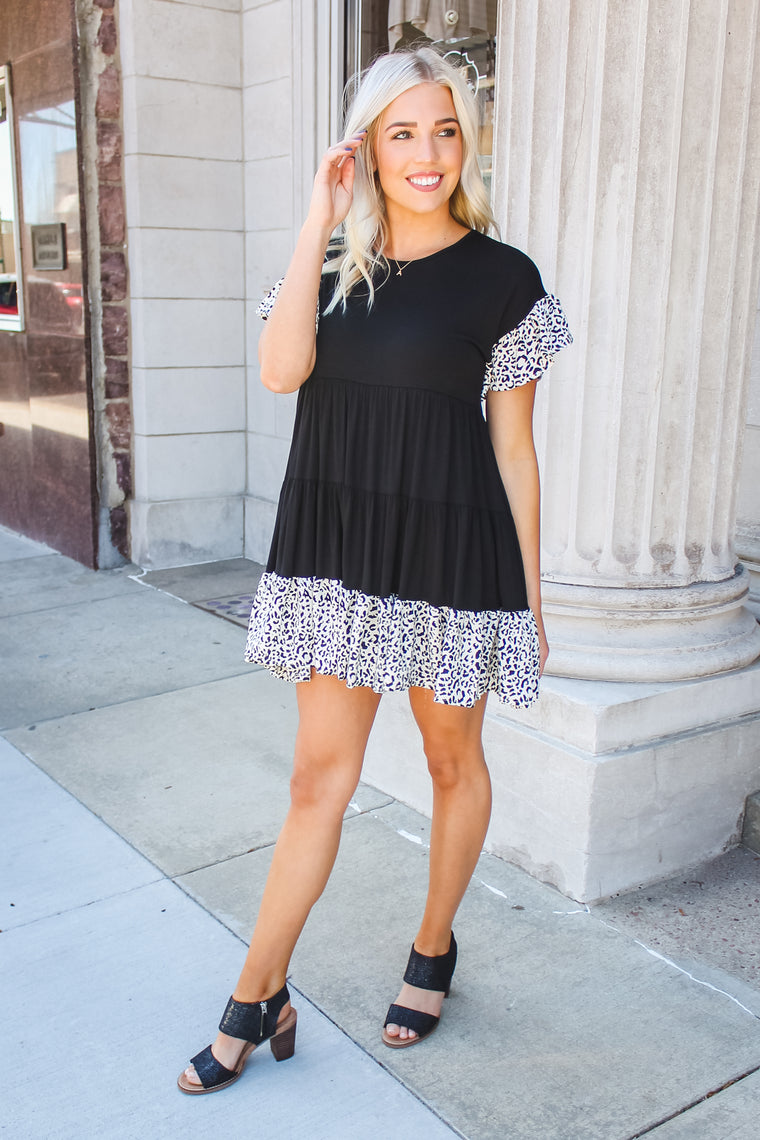 Lilly Tiered Leopard Dress