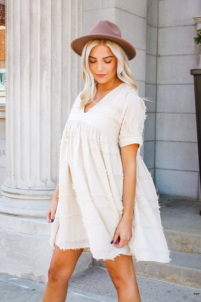 Cassidy Textured Babydoll Dress