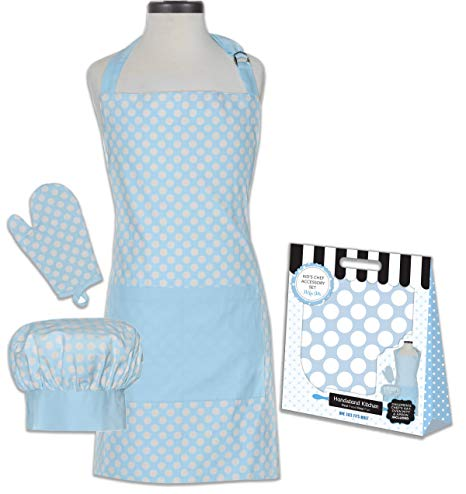 Polka Dot Deluxe Child Apron Set
