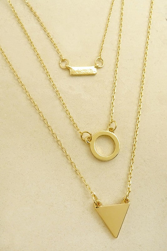 Geo Shape Layer Necklace