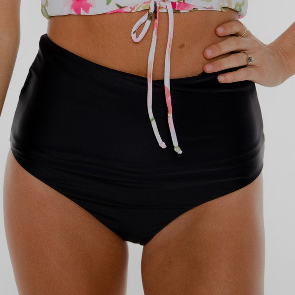 High Rise Reversible Bottoms Black