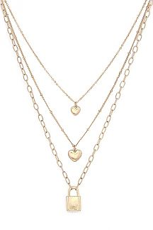 Double Heart Layer Necklace 4108