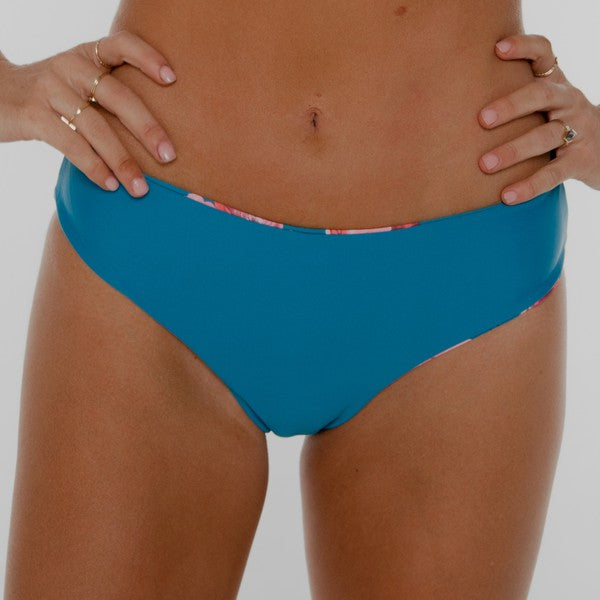 Low Rise Bottom Reversible Blue Floral