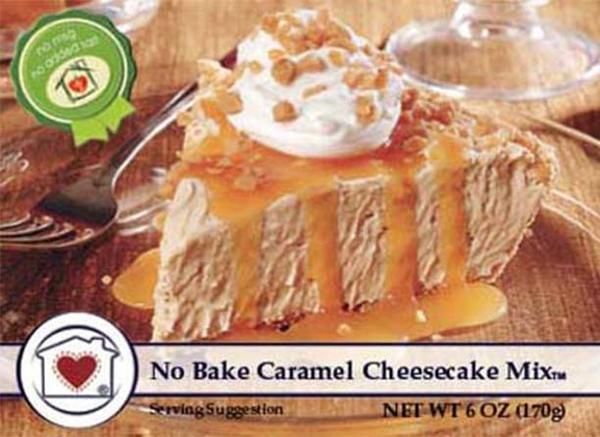No Bake Caramel Cheesecake