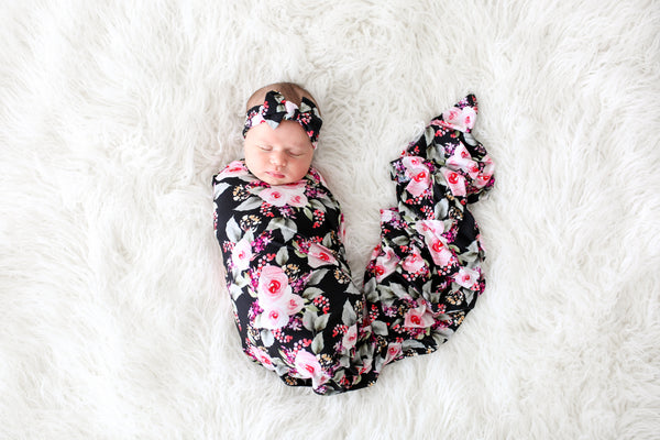 Posh Peanut Milana Swaddle & Headwrap Set
