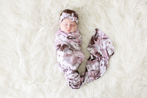 Posh Peanut Nikki Swaddle & Headwrap Set