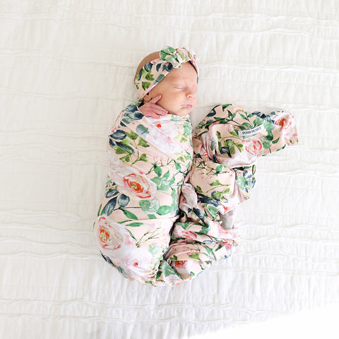 Posh Peanut Harper Infant Swaddle & Headwrap Set