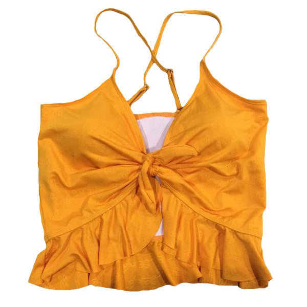 Peplum Swim Top Yellow