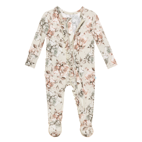 Posh Peanut Daniella Ruffled Zippered Footie