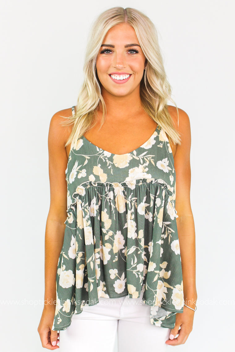 Sally Floral Tank