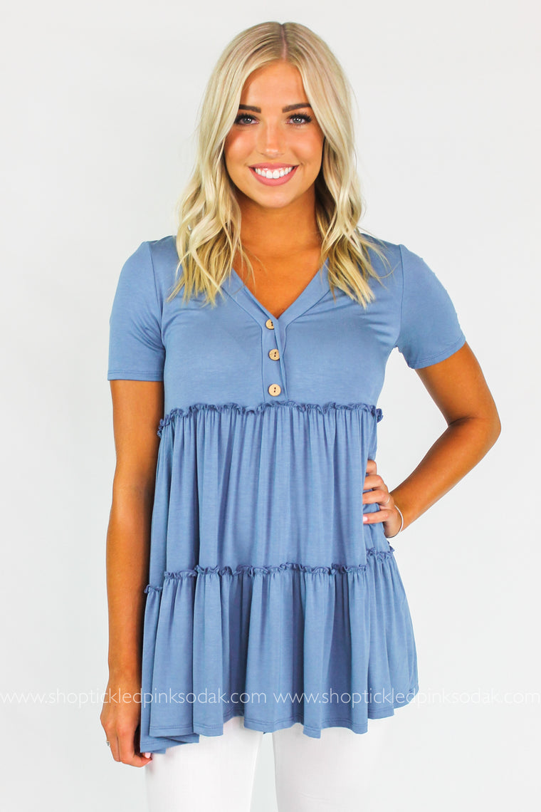 Delilah Babydoll Tiered Top