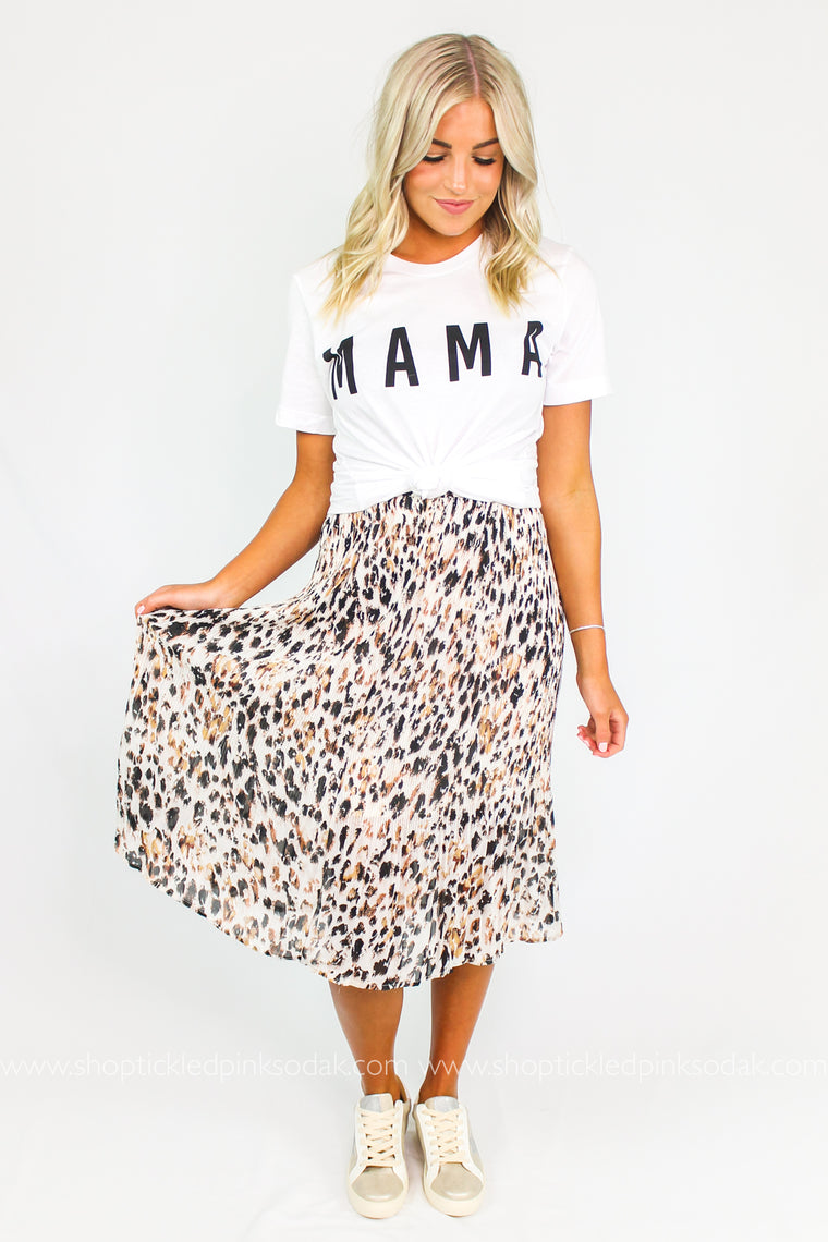 Paige Leopard Pleated Skirt