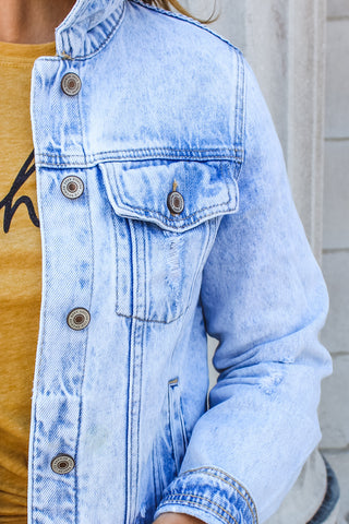 Angelica Fray Denim Jacket