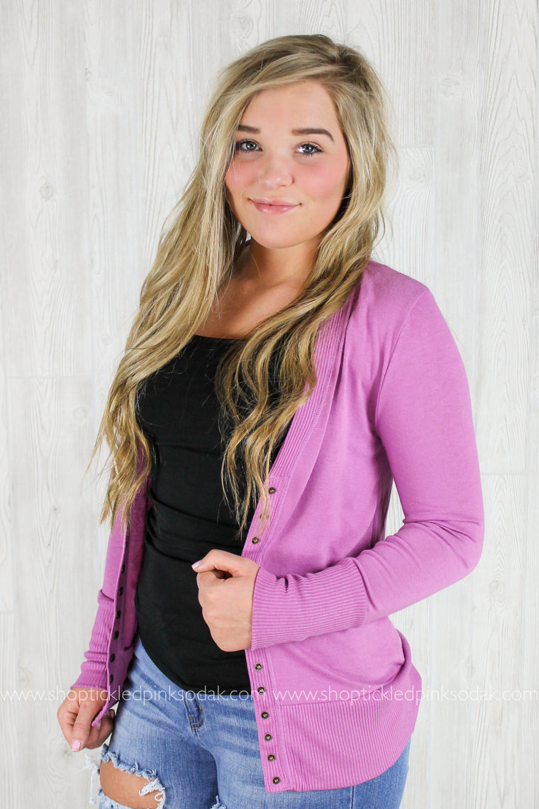 Audrina Snap Button Cardigan (more colors)
