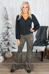Amelia Leopard Bell Bottoms