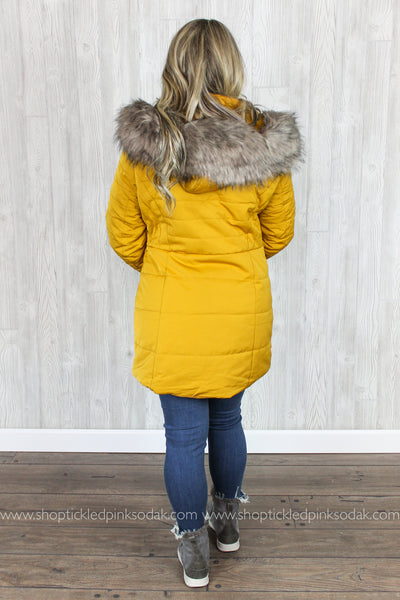 Noelle Faux Fur Hooded Coat