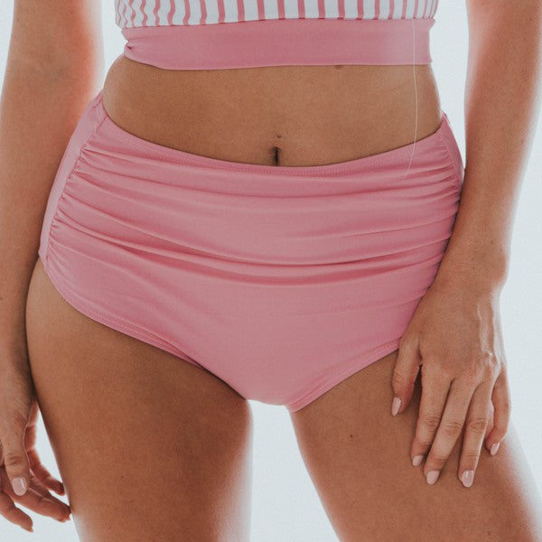 Midi Ruched Bottoms Pink