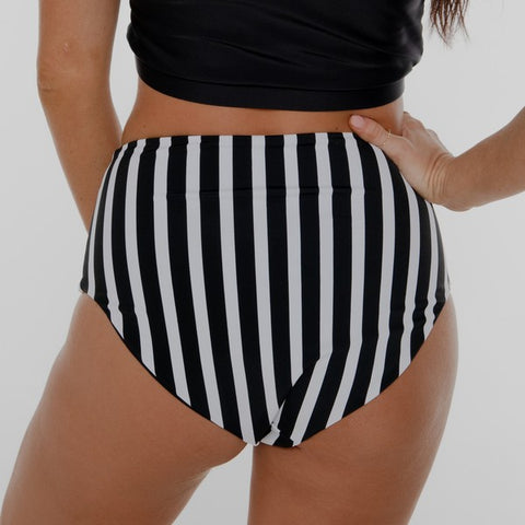 Mid Rise Bottoms Reversible Black & White