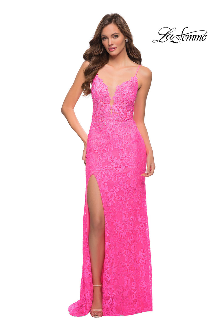 29987 Prom Dress Neon Pink