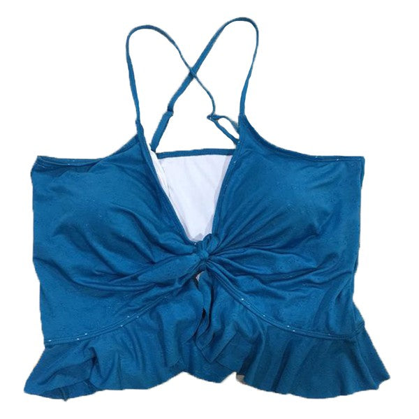 Peplum Swim Top Blue