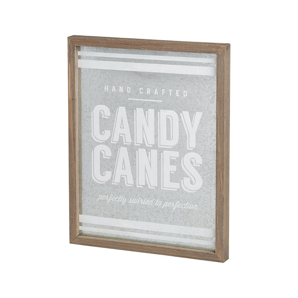 Candy Cane Barn Box Sign - Tickled Pink Boutique Mitchell