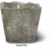 Terra Vasa Square Pot Candle