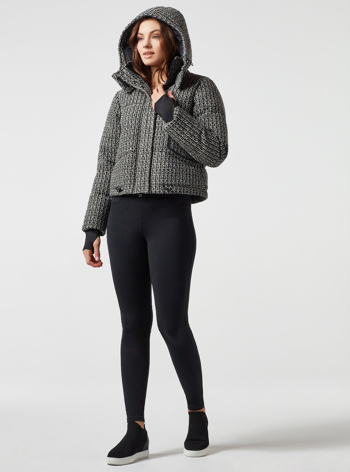 CROP BOUCLE PUFFER