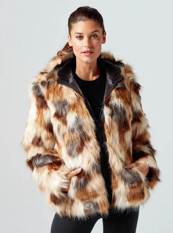 Reversible Faux Fur Puffer
