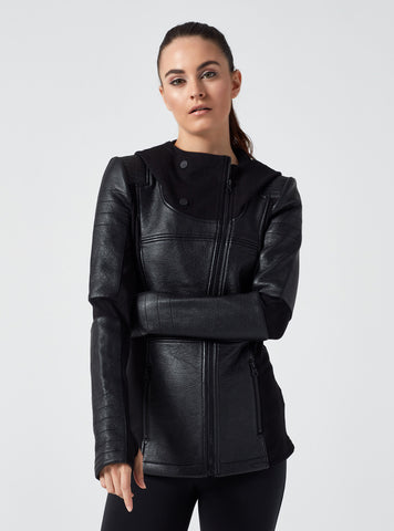 ASYMMETRIC HOODED MOTO