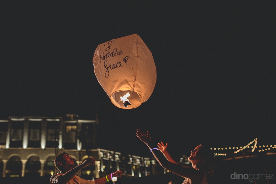 wish lanterns wedding