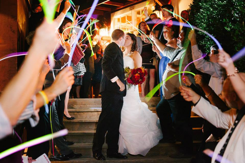 glow necklaces wedding exit