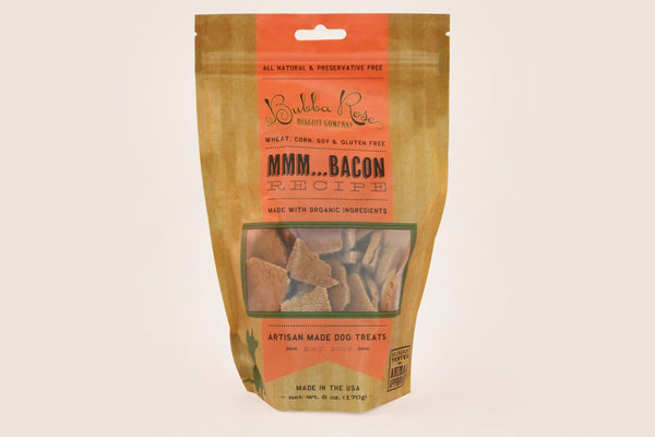 "Bubba Rose ""Mmm...Bacon"" Gluten-Free Dog Biscuits"