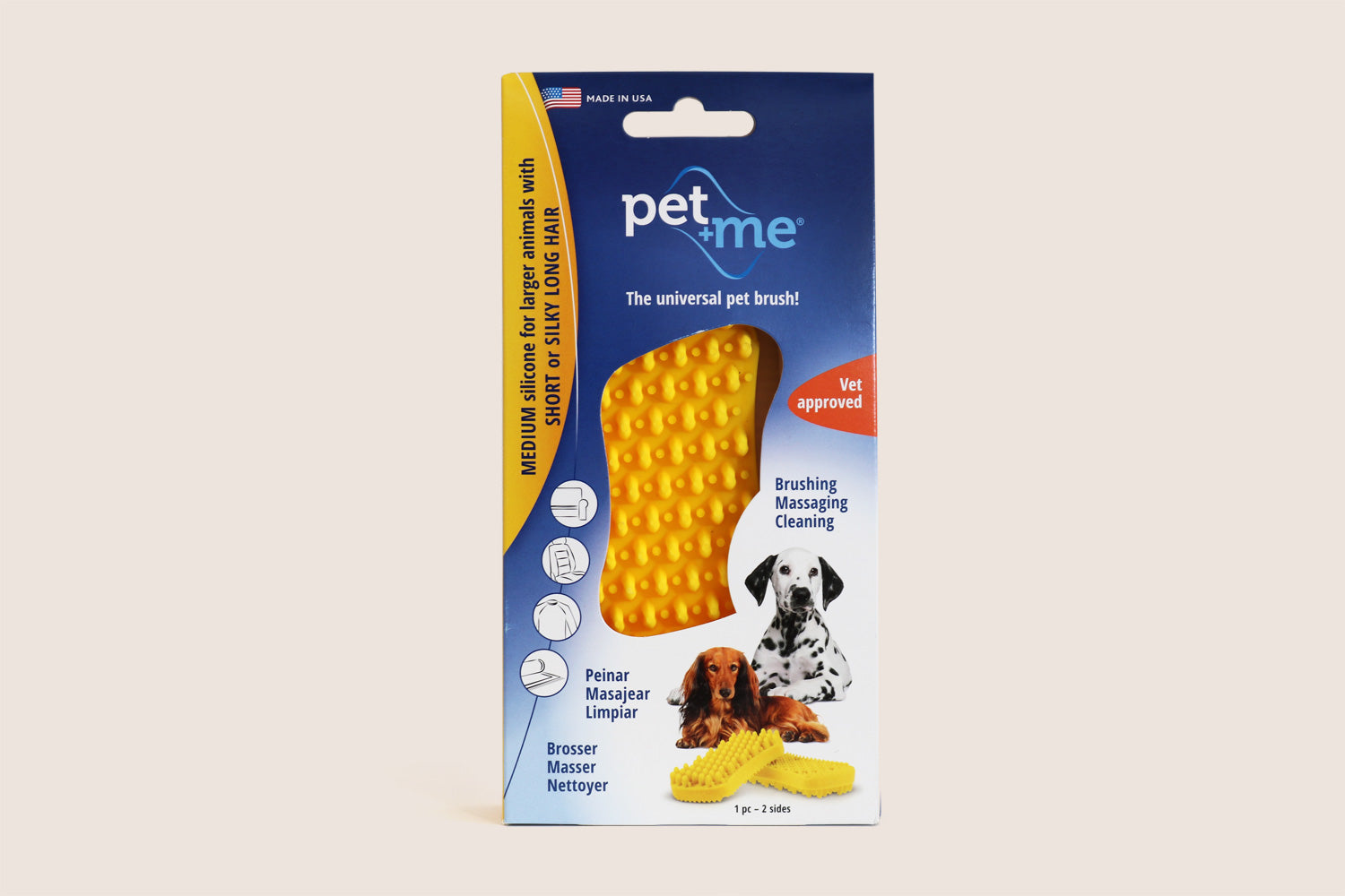 Pet+Me Silicone Short Hair Dog Brush