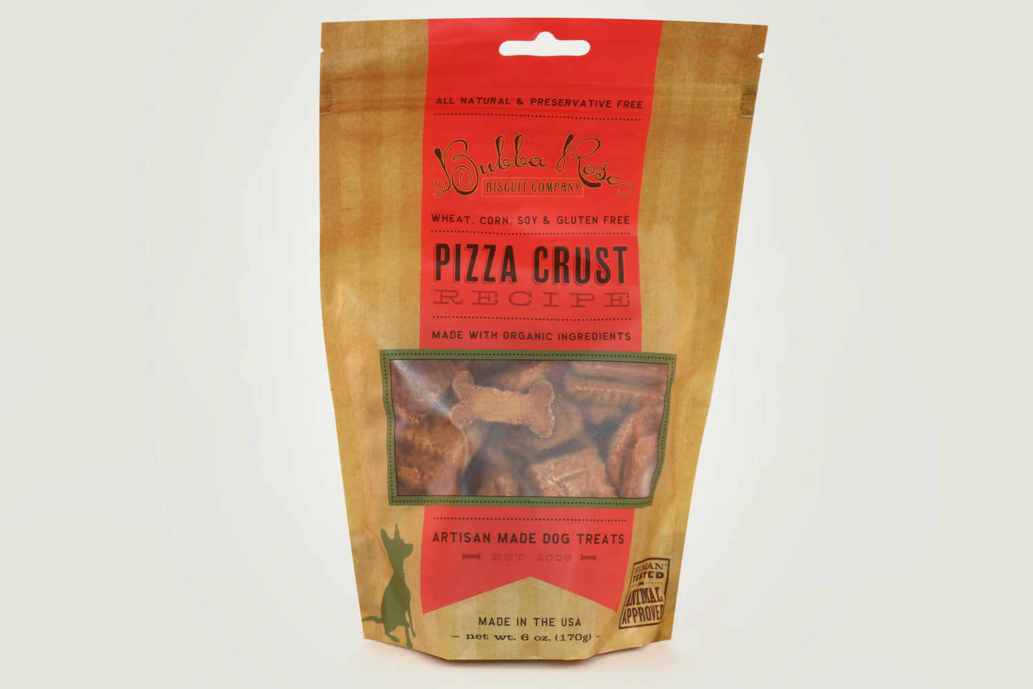 "Bubba Rose ""Pizza Crust"" Gluten Free Dog Biscuits"